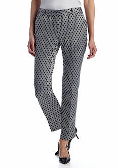 Anne Klein Diamond Jacquard Slim Pant
