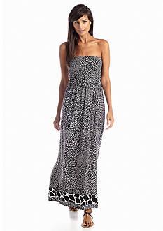 Anne Klein Animal Print Maxi Dress