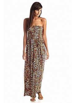Anne Klein Leopard Print Maxi Dress