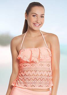 Malibu Dream Girl Tapa Beat Crochet Bandeaukini