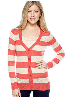 It's Our Time Stripe Boyfriend Cardigan