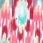 Kim Rogers Women's Plus Sale: Coral Passion Kim Rogers Plus Size Printed Tie Front Top