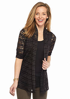 Kim Rogers Open Ruched Elbow 2Fer Top