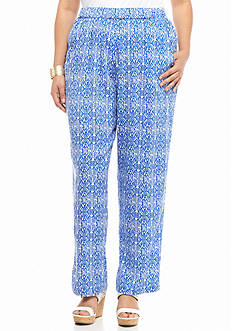 Kim Rogers Plus Size Diamond Printed Soft Pants