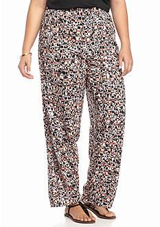 Kim Rogers Plus Size Printed Soft Pants