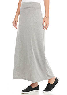 Kim Rogers Solid Knit Maxi Skirt
