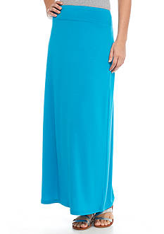 Kim Rogers Solid Knit Maxi Skirt