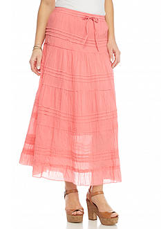 Kim Rogers Solid Tiered Skirt
