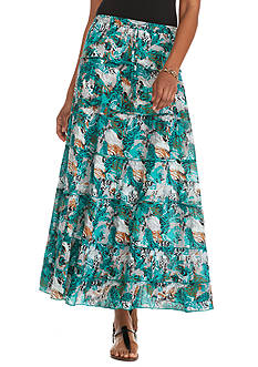 Kim Rogers Printed Voile Tiered Skirt