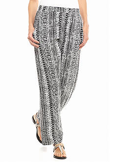 Kim Rogers Petite Aztec Print Soft Pants