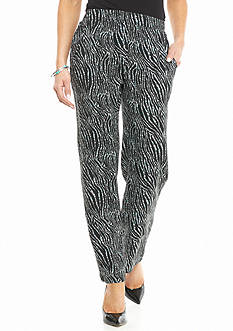 Kim Rogers Petite Swirl Printed Soft Pants