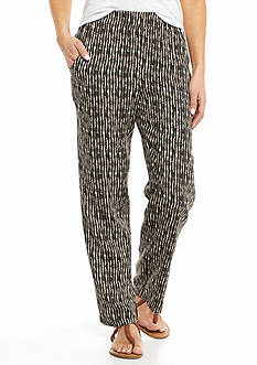 Kim Rogers Petite Linear Printed Soft Pants