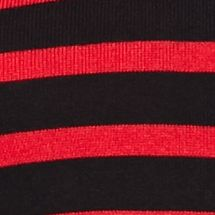 Kim Rogers Women Sale: Red/Black Kim Rogers Shirred Stripe Sweater