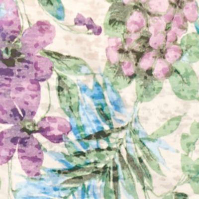 Kim Rogers Petites Sale: Purple Kim Rogers Petite Printed Burnout Tee