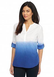Kim Rogers Petite Textured Ombre Top