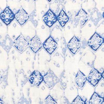 Petite Blouses: Denim Kim Rogers Petite Printed Peasant Top