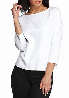 Eileen Fisher Ballet Top with Three-Quarter Sleeves