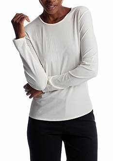 Eileen Fisher Jersey Long Sleeve Essential Top