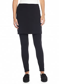 Eileen Fisher Petite Jersey Knit Skirted Leggings
