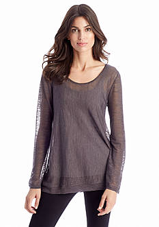 Eileen Fisher Sheer Tencel Knit Top