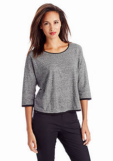 Eileen Fisher Melange Box Top