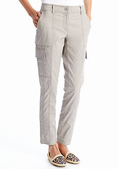 Eileen Fisher Cotton Tencel Ankle Trouser