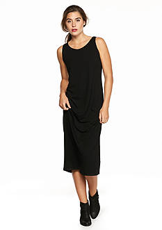 Eileen Fisher Scoop Neck Maxi Dress