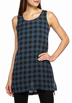 Eileen Fisher Plaid Tunic