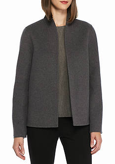 Eileen Fisher Stand Collared Jacket
