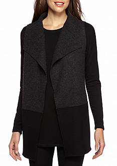 Eileen Fisher Funnel Neck Vest
