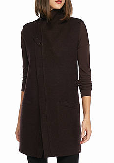 Eileen Fisher Funnel Neck Long Vest