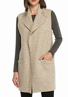 Eileen Fisher Funnel Neck Long Vest