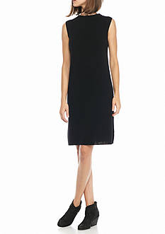 Eileen Fisher unnel Neck Knee Length Dress
