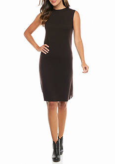 Eileen Fisher unnel Neck Knee Length Dress
