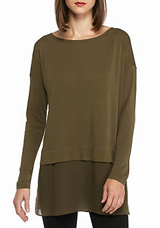 Eileen Fisher Bateau Neck Tunic Top