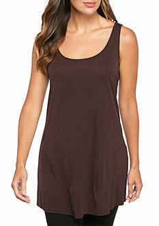 Eileen Fisher Solid Knit Long Tank Top