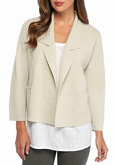 Eileen Fisher Notch Collar Knit Jacket
