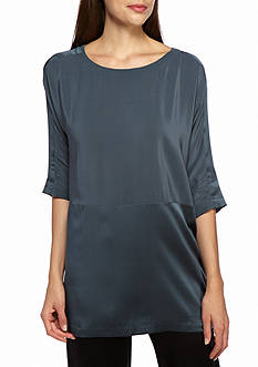 Eileen Fisher Scoopneck Tunic Boxy Top