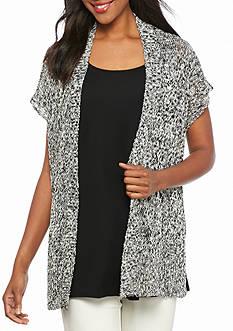 Eileen Fisher Short Sleeve Sweater Cardigan