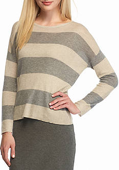 Eileen Fisher Stripe Boxy Sweater