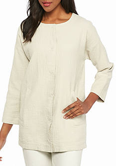 Eileen Fisher Solid Long Jacket
