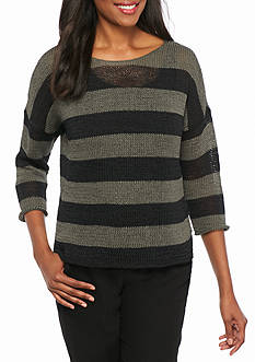 Eileen Fisher Open Stitch Boxy Fit Sweater