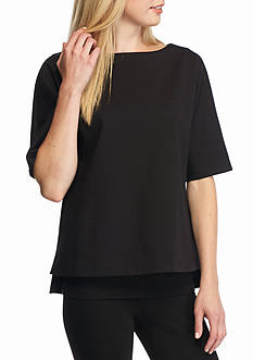 Eileen Fisher Solid Knit Top
