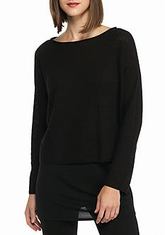 Eileen Fisher Bateau Neck Boxy Top