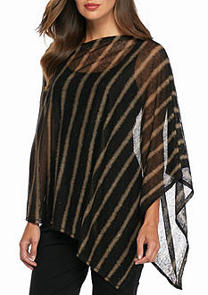 Eileen Fisher Linen Stripe Poncho
