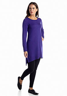 Eileen Fisher Tencel Cotton Long Sleeve Dress