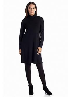 Eileen Fisher Jersey Scrunchy Neck Dress