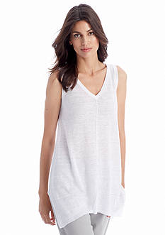 Eileen Fisher V Neck Linen Sleeveless Sweater