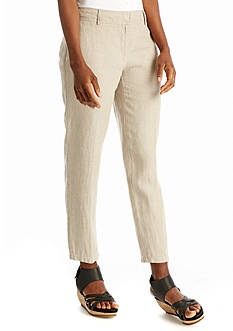 Eileen Fisher Organic Linen Crop Trouser