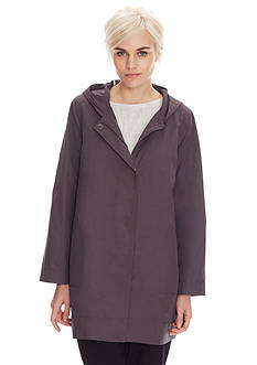 Eileen Fisher Hooded Lightweight Coat